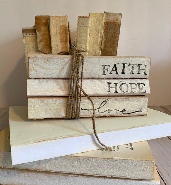 Love Book Stack Hope Faith