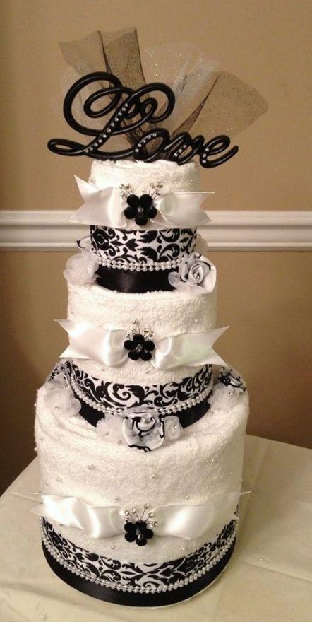 Towel Cake for Bridal Shower