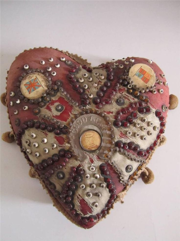 Antique WWI Soldiers/Sailors Sweetheart Pincushion ,England, Buller,Good Luck #England