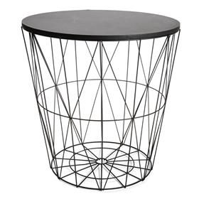 Wire Storage Table - Black