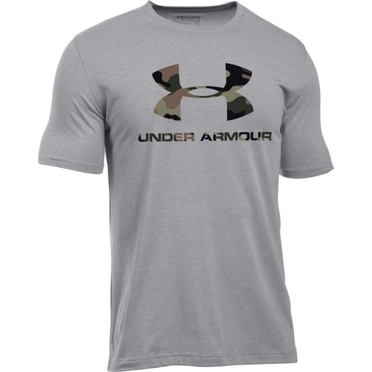 Under Armour Men's Sportstyle Camo Logo T-Shirt, Size: Medium, Gray