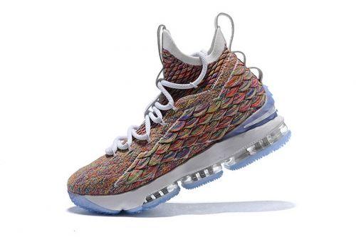 f21b9329fb9 Fashion Mens Nike LeBron 15 Fruity Pebbles White Multi-Color 897648-900 For  Sale - ishoesdesign