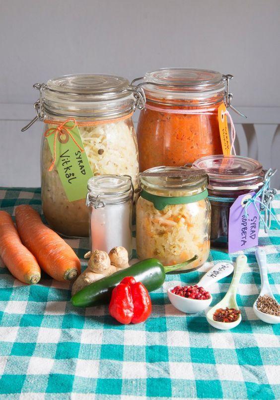 mjölksyrade grönsaker, surkål, kimchi - 101ideer.se
