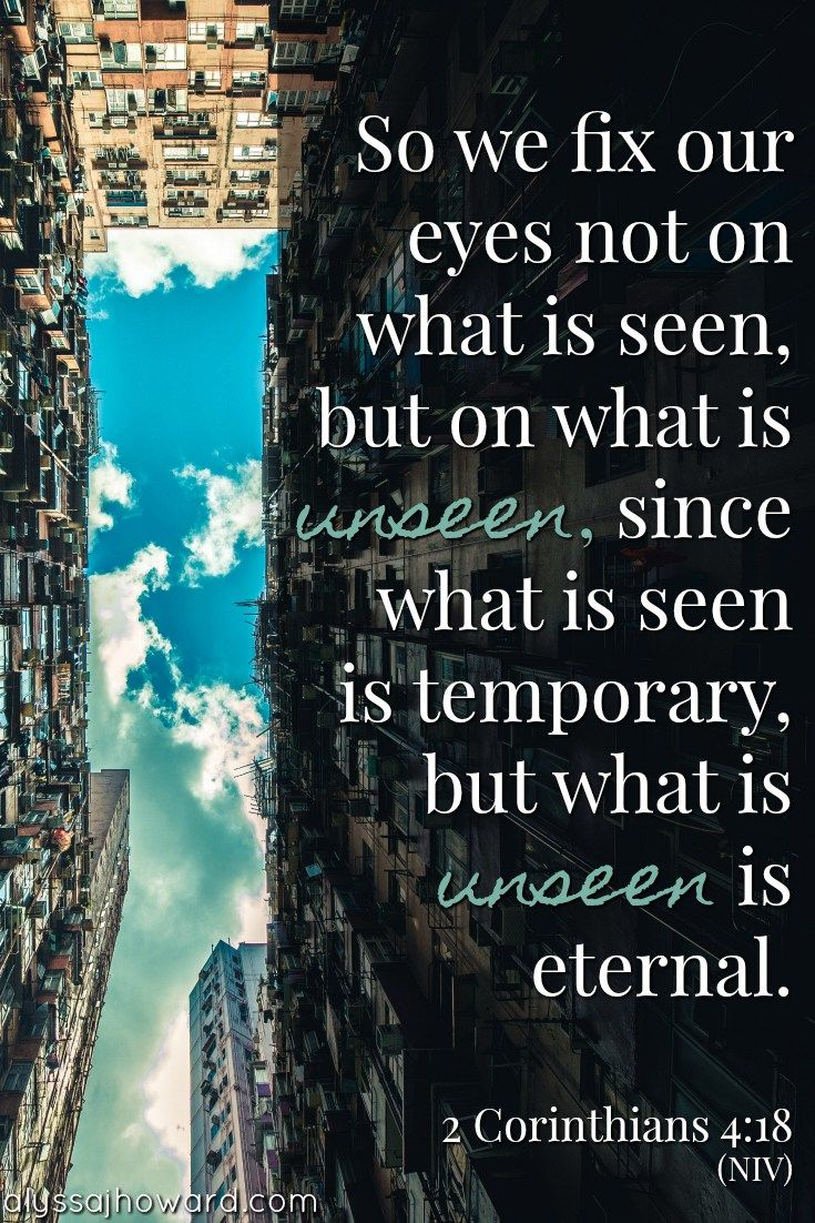 I've heard it said that we as Christians should see things from an eternal perspective. But what does that mean exactly? How do we go about seeing the world through eternal eyes? #BibleVerse
