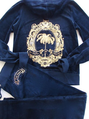 Juicy Couture Iconic Palm Tracksuit Hoodie Pants Set
