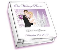 Customizable planner for LDS brides and grooms
