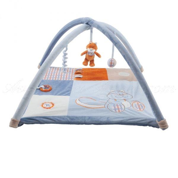 Tapis d'éveil William et Henry - Noukies: un tapis de jeu Noukies dans la collection William et Henry, un des premiers jeux d'éveil qui s'offre comme cadeau de naissance