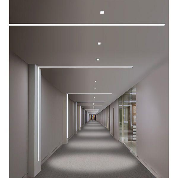 Alternate elevator landing cover lighting with down lights; Pure Lighting - Truline 1.6, 24VDC Plaster-In LED System