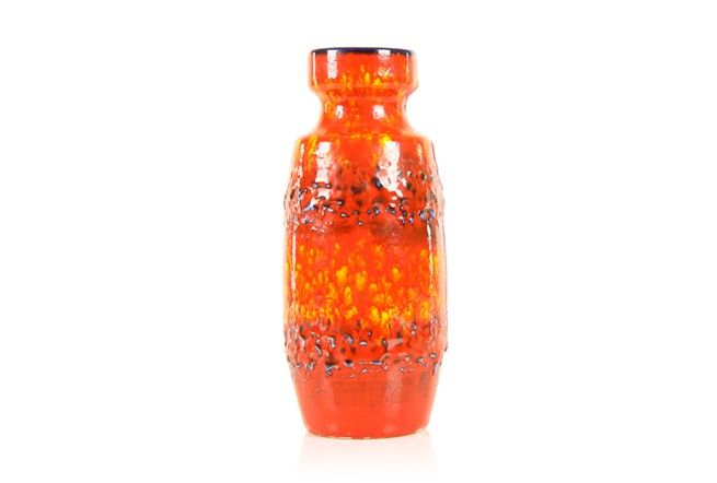 Scheurich Fiery Lava Vase - Mr. Bigglesworthy Designer Vintage Furniture Gallery