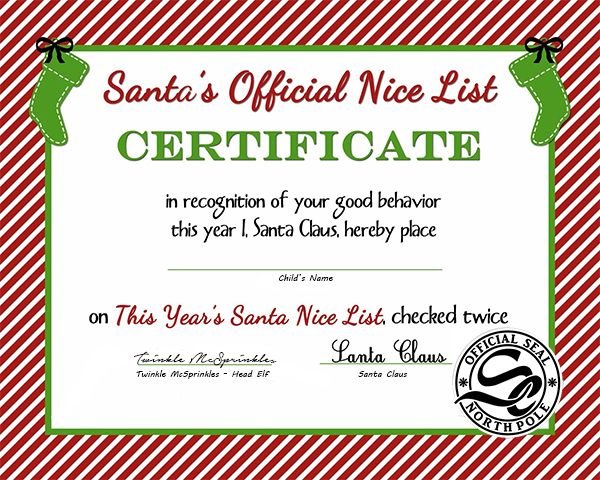 25 Best Ideas about Free Printable Gift Certificates – Santa Gift Certificate Template