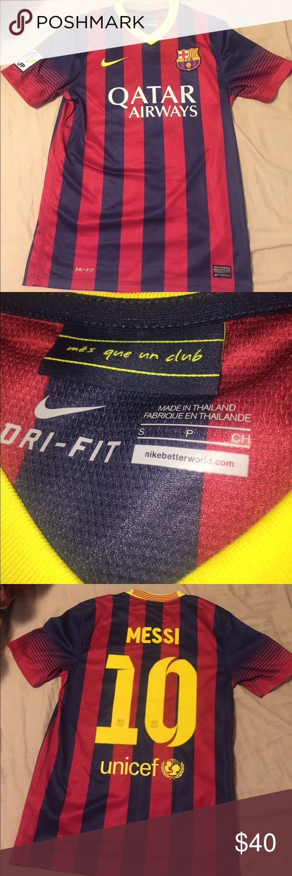 Nike Messi soccer jersey Men small Messi soccer jersey new Nike Shirts Tees - Short Sleeve