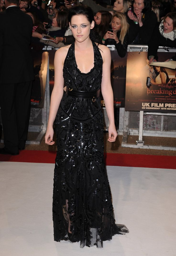 Kristen Stewart Dressing Kristen Stewart Black Glitter