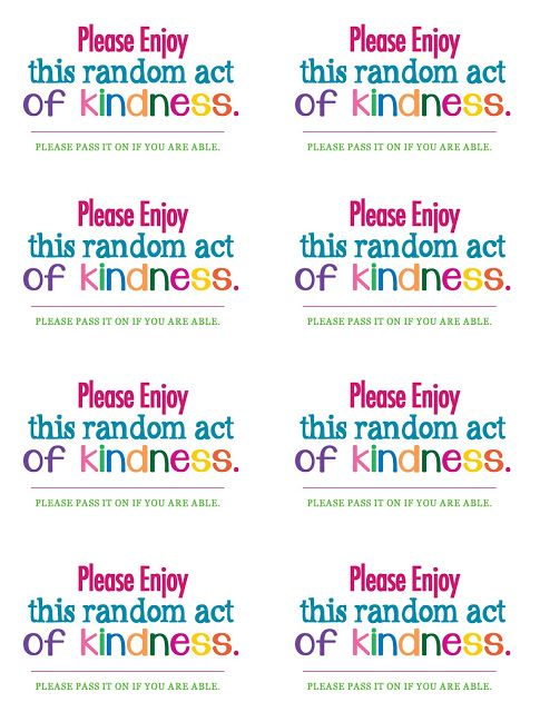 random acts of kindness cards templates - 28 images ...