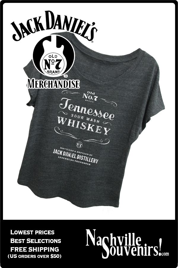 7c1794b6b6a061 This officially licensed Jack Daniels women s Sour Mash Whiskey loose fit t- shirt in gray with scooped neck. The Jack Daniels shirt features a white