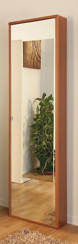 Mobile portascarpe con anta a specchio