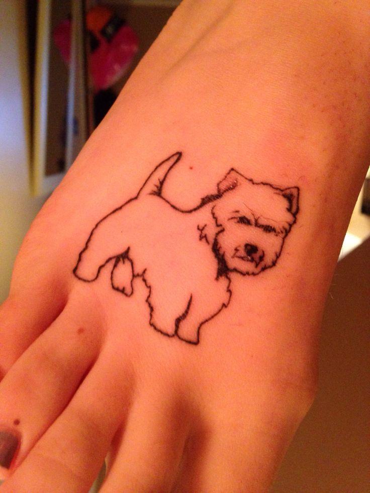 My westie tattoo for my dog