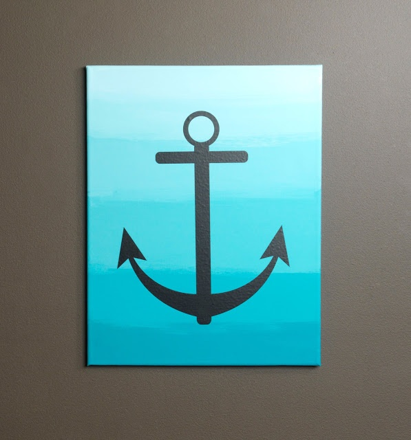 Ombre Anchor Canvas by Sarah Owens for #Craft Warehouse
