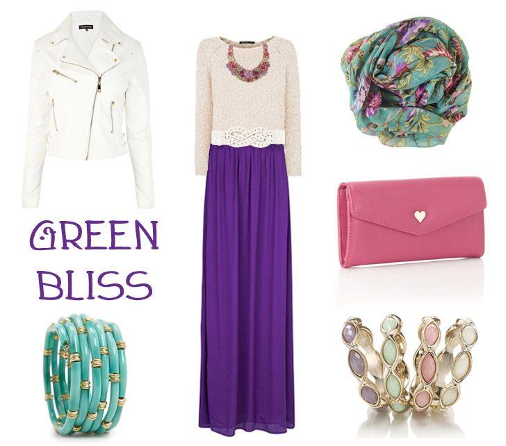 Floral purple pink green - How to wear Floral Prints - Hijab Deva   Online Hijab Shop