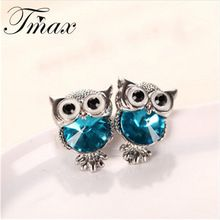 New Design Crystal Women Charms Owl Stud Earrings Cute Colors Fashion Jewelry White Gold Plated Trendy For Wedding Brincos 999 – China Sales Express