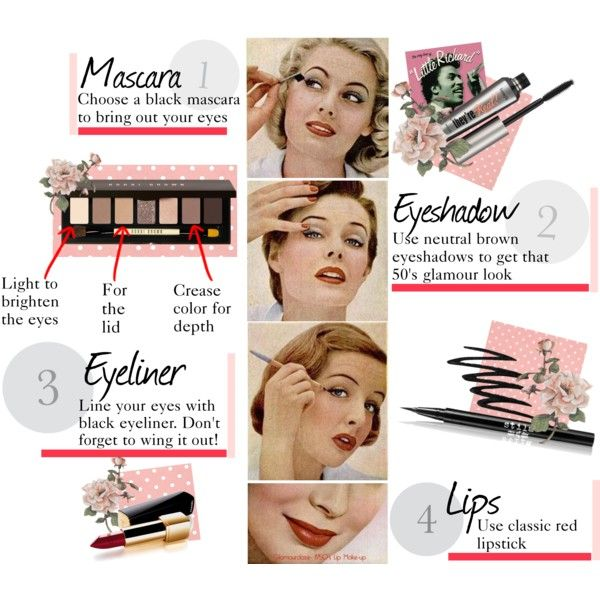 Classic 1950's makeup look