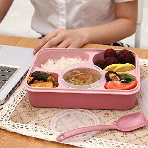 EQLEF® 5 compartiments Lunch Box Bento Picnic Basket conteneurs bac à légumes (Rouge): Amazon.fr: Cuisine & Maison