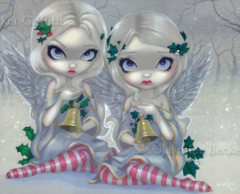 Christmas Fairy Art:  The Holly and the Ivy by Jasmine Becket-Griffith