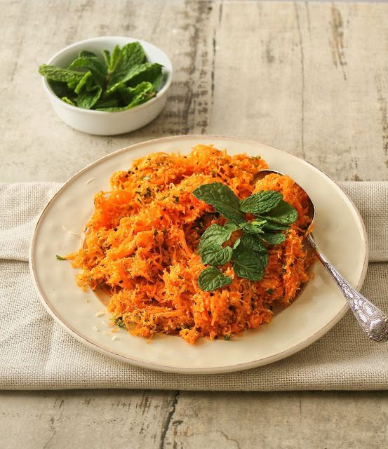 Fresh and flavourful carrot salad with coriander and coconut. Very easy and can be made in advance.