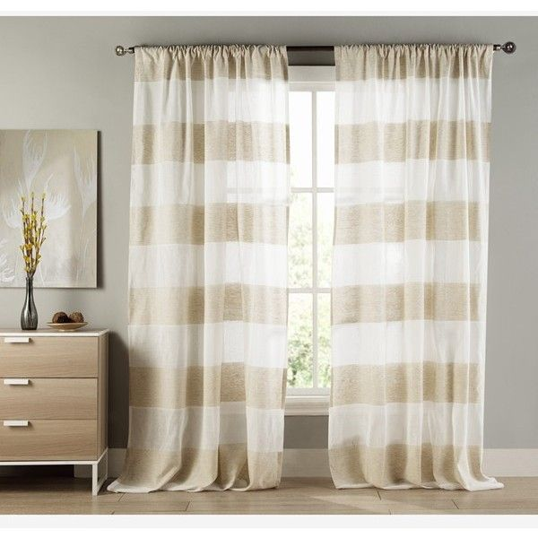 Duck River Textile 39 Lydelle 39 Cabana Stripe Window Panels Found On Polyvore Featuring Polyvore