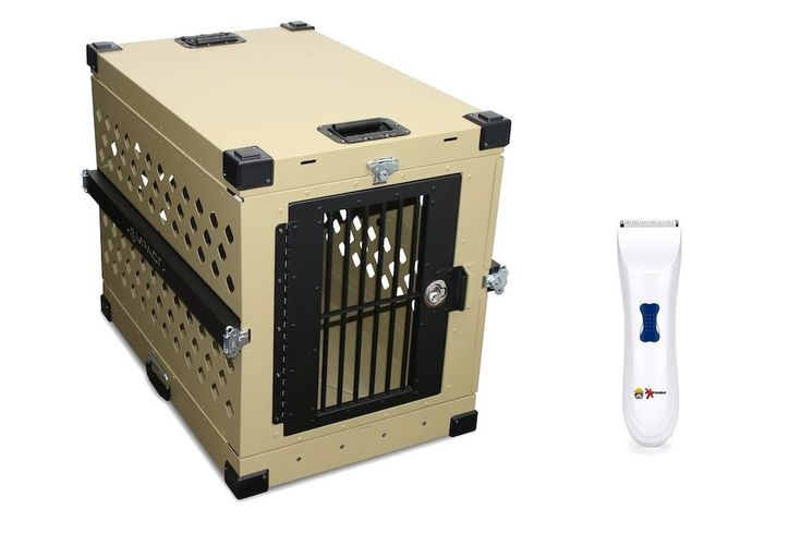 Collapsible Dog Crate Khaki - Large - IATA 82 Airline Compliant - Powder Coated Aluminum Folding Dog Travel Crate with Handles and Rails and eXtreme Dog Grooming Clippers Bundle Grain Valley Large Collapsible Dog Crate and FREE eXtreme Dog® Grooming Clippers Bundle This Read  more http://dogpoundspot.com/dog-luxury-store-1779/  Visit http://dogpoundspot.com for more dog review products