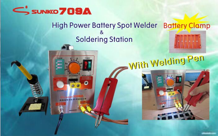 New Mobile Phone Notebook Battery Micro Pulse Spot Welder Welding Equipment Machine & Solding Machine Solder Two in One 709A