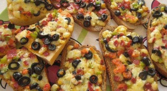 Ekmek Dilimi Pizza Tarifi   Yemek Tarifleri