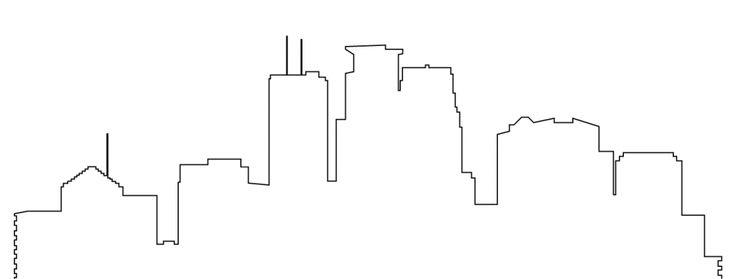Minneapolis Skyline Outline