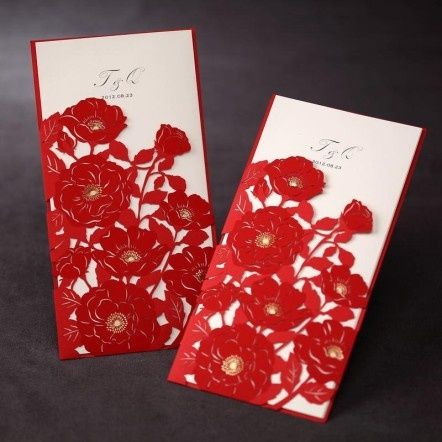 the 25+ best red wedding invitations ideas on pinterest, Wedding invitations
