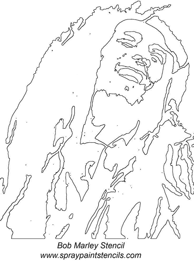 Bob Marley stencil