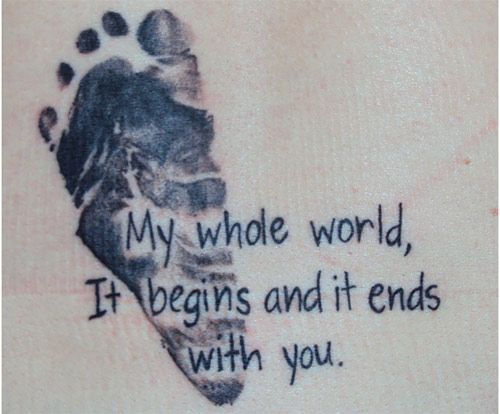 Top 10 Footprint Tattoo Designs -- Love this idea!!
