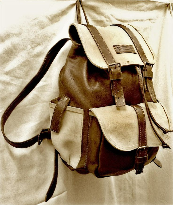 Leather bag two tone