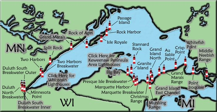 see every lighthouse on lake Superior
