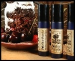 Black Forest Perfume Oil Solstice Scents: Agarwood, Nagarmotha EO, Tobacco Absolute, Dark Chocolate, Chocolate Mousse, Cocoa Absolute, Maraschino Cherries, Black Cherries, Hay Absolute, Sandalwood EO, Whipped Cream & a drop of Pink Peppercorn Essential Oil