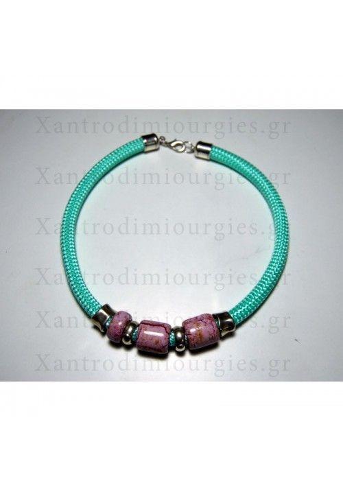 Violet Mint Candy Necklace