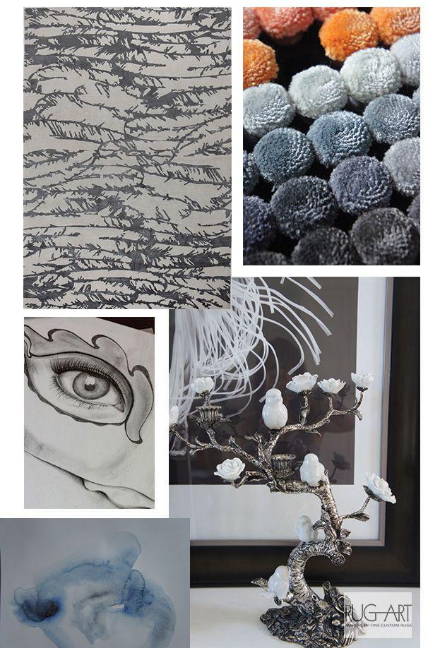 Rug Art metallic finish design idea. Silver, highly ...