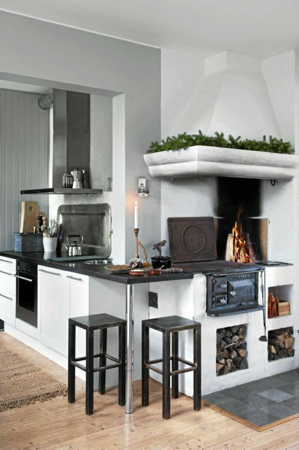 164 best Stove images on Pinterest Kitchen stove, Wood burning - holzofen für küche