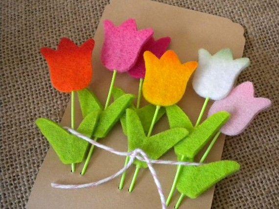 Felt Tulip Embellishments