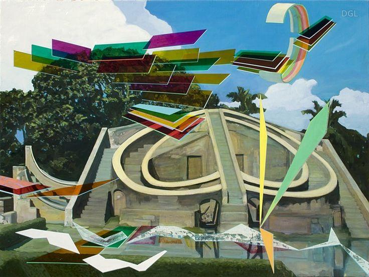 Painting, Observation, 2013, David Ledger, oil on linen, 101x76cm