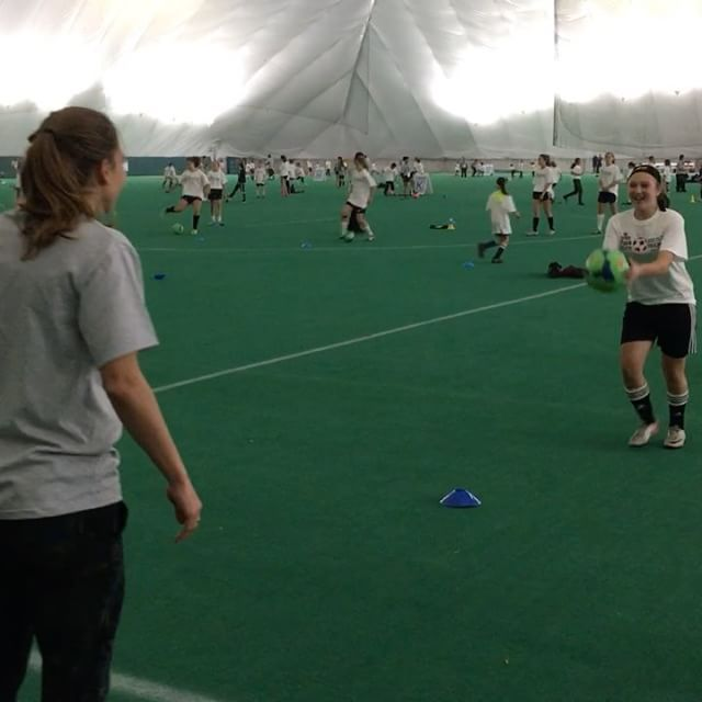 Tobin Heath teaching how to get past a defender