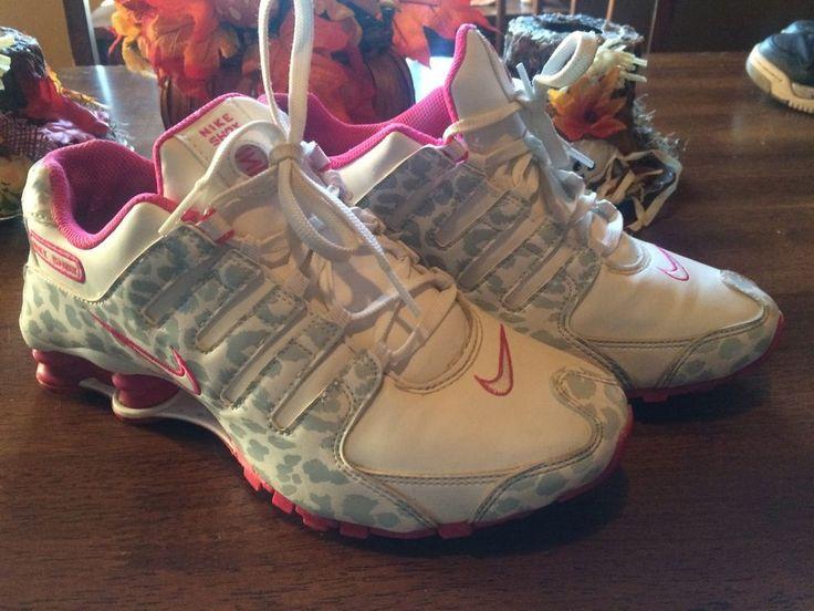 Nike Shock Women's NZ 636088 110 Rare Cheetah Pink Grey White Vgc Size 8 #Nike…