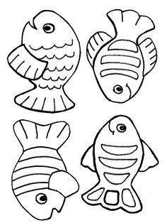 Free creation coloring page - fish