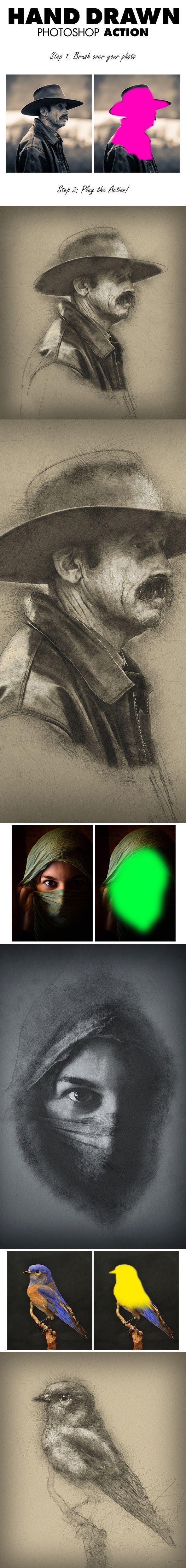 16-Hand Drawn Photoshop Action