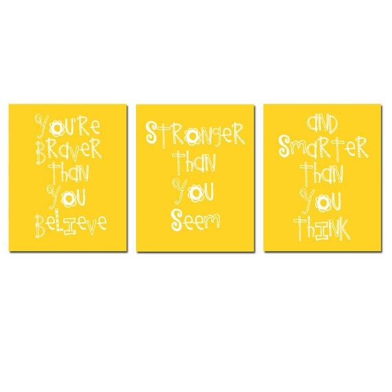 Set of Three 8 x 10 Winnie The Pooh Quotes