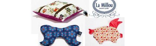 Poduszki La Millou - Mięciutkie, Kolorowe Poduszeczki Jaśki z Tkaniny Minky - Angel's wings, Sleepy Johnny, Kury Babci Dany, Sleepy Pig