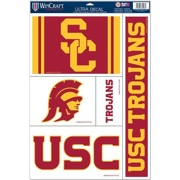 """USC Trojans WinCraft 11"""" x 17"""" Reusable Window Cling Sheet - $7.99"""
